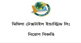 Mithila Textile Industries Ltd. Job Circular 2019