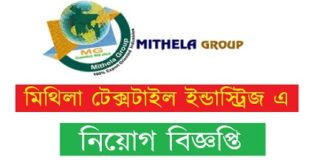 Mithela Textile Industries in job circular